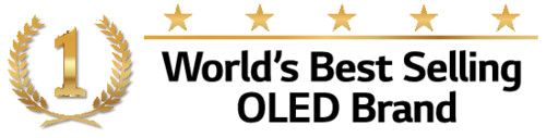 LG OLED worlds best selling emblem - Black.ai
